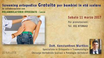 SCREENING ORTOPEDICO GRATUITO